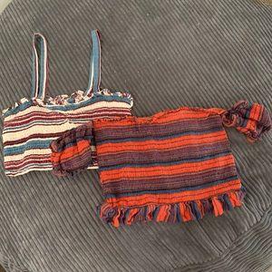 Blush Striped Crop Top Bundle